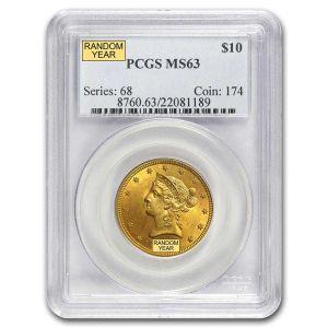 $10 Liberty MS 63 .4838oz