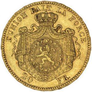 Belguim 20 Franc .1867oz